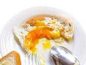 Eaten egg breakfast — Stock Photo