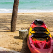 Kayak on beach — Foto Stock