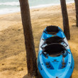 Kayak on beach — Foto de Stock