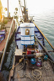 Fishing boats getting ready to go out in the morning — Stock Photo