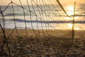 Пляжный волейбол в утро — Стоковое фото