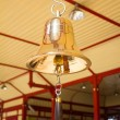 Golden bell at Hua Hin Railway Station. — Stock Photo
