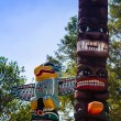 Totem pole in Thailand — Stock Photo
