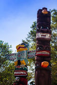 Totem pole in Thailand — Stock fotografie