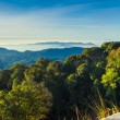 Broad panorama of the highest mountain in Thailand — Photo