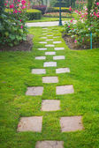Pathway in garden — Stock Photo