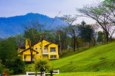 Lonely house on the mountain — Stock Photo