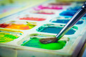 Colorful watercolors — Stock Photo