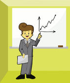 Businessman with growth graph — Stockvektor