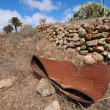 Rusty barrel in the desert  — Lizenzfreies Foto