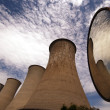 Chimneys of a geothermal power plant — Stock Photo
