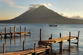 Pier on the Atitlan Lake — Stock Photo