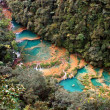 River and Small Lakes in Guatemala — Stockfoto
