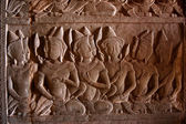 A Bas-Relief Statue of Khmer Culture — Foto Stock