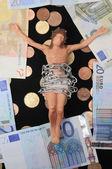 基督和钱 — 图库照片