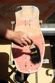 Restore an Old Vintage Skateboard — ストック写真