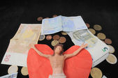 Cristo e soldi — Foto Stock