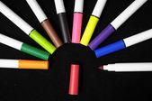 Marcadores de tinta de color — Foto de Stock