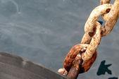 老的生锈海军链 — 图库照片