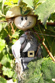 One Small Funny Scarecrow — Stock Photo