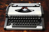 Vintage Travel Typewriter — Stock Photo
