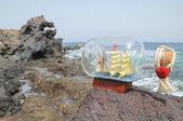 Sailing Ship in the Bottle — Zdjęcie stockowe
