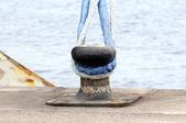 Mooring on a Pier — Foto de Stock