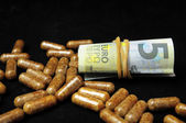 Pills And Money — Stock Photo