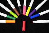 Renkli mürekkep işaretleri — Stok fotoğraf