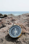 Compass and Ocean - Orientation Concept — Stock Photo