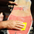 Stock Photo: Restore Old Skateboard