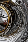 Lot of Different Metal Wire — Stock Photo