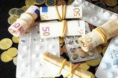 Hap ve para — Stok fotoğraf