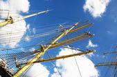 Vinç gemi direkleri — Stok fotoğraf