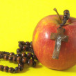 Bible Eva's Sin Red Apple — Stock Photo #33689845