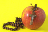 Bible Eva's Sin Red Apple — Stock Photo