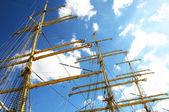 起重机桅杆 — 图库照片