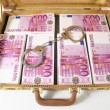 Stock Photo: Suitcase Full of Banknotes