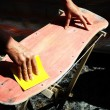 Restore an Old Skateboard — Stock Photo