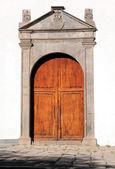 Trä dörr — Stockfoto