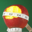 Stock Photo: Diet Apple and Meter