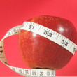 Diet Apple and Meter — Stock Photo