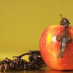 Bible Eva's Sin Red Apple — Stock Photo #34047251
