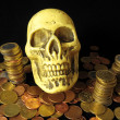 Death and Money Concept Skull and Currency — Stockfoto