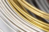Veel verschillende metalen draad — Stockfoto