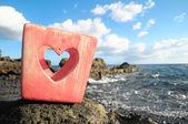 Svícen ve tvaru srdce — Stock fotografie
