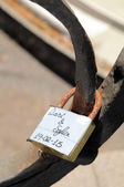Lover's Lock — Stock Photo