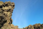 Dry Hardened Lava Rocks — Stock Photo
