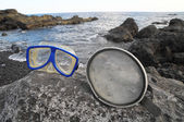 Vintage l maschera subacquea — Foto Stock