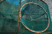 Empty Green Net Fish Traps — Stock fotografie